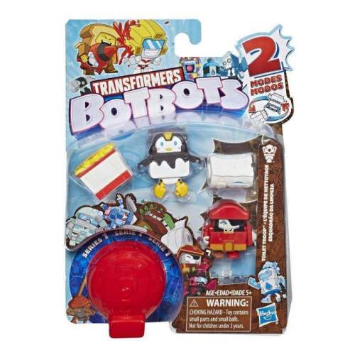 HASBRO Transformers BotBots Toys Series 1 Toilet Troop 5-Pack -- Mystery 2-In-1 Figures