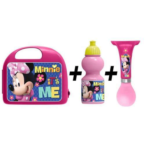 Combo Set Lunch Box Minnie Stamp