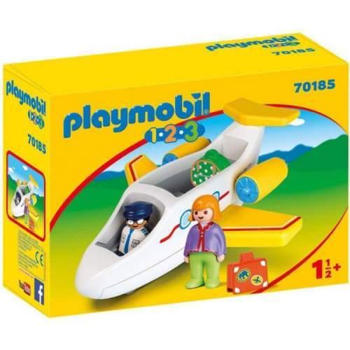 Set Playmobil 1.2.3 - Avion Cu Pasager 70185