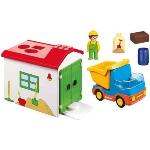 Set Playmobil 1.2.3 - Casuta Cu Forme Si Basculanta 70184