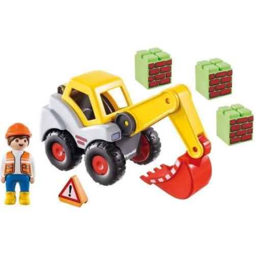 Set Playmobil 1.2.3 - Excavator Cu Brat Mobil 70125