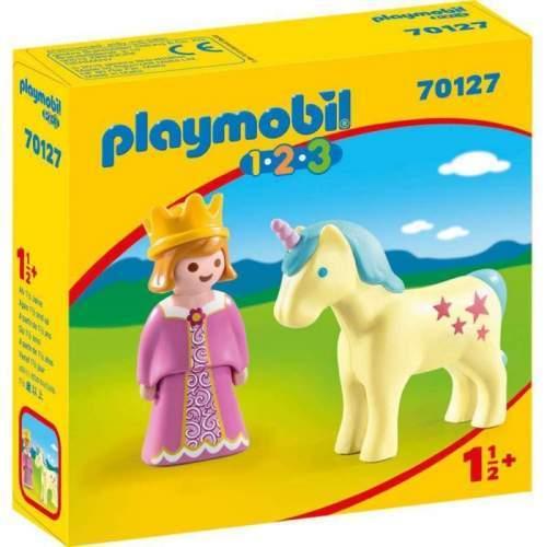 Set Playmobil 1.2.3 - Printesa Cu Unicorn 70127