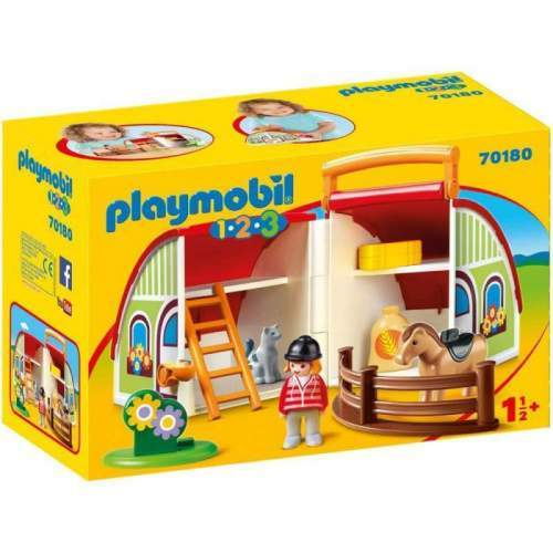 Set Playmobil 1.2.3 - Set Mobil Ferma 70180