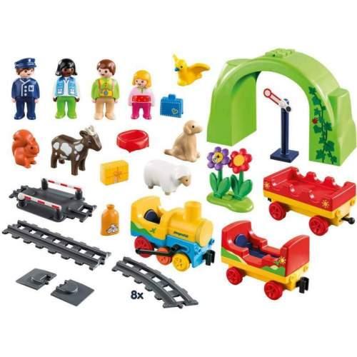 Set Playmobil 1.2.3 - Tren Cu Statie 70179