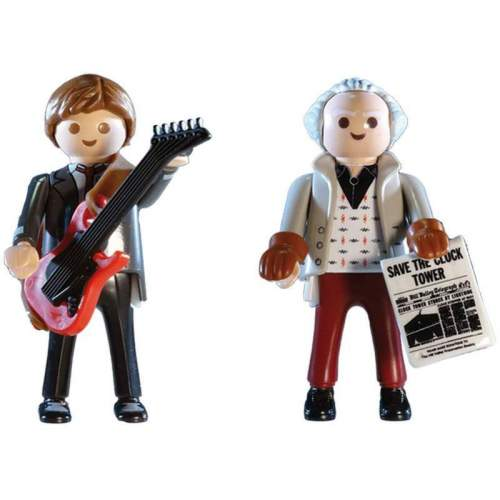 Set Playmobil Back To The Future - Inapoi In Viitor - Marty Si Dr. Brow 70459