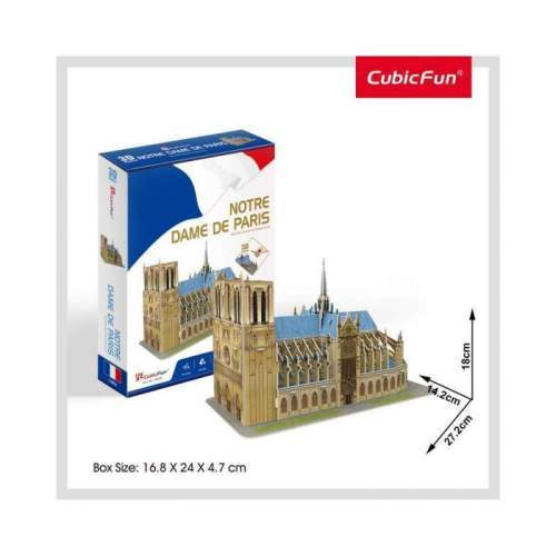 Puzzle 3D Notre Dame (Nivel Mediu 53 Piese)