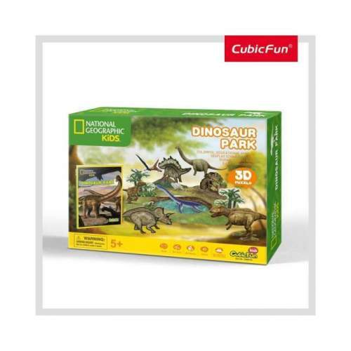 Puzzle 3D+Brosura-Parcul Dinozaurilor 43 Piese