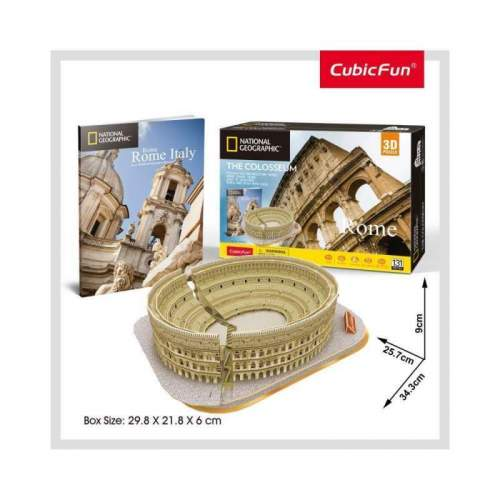 Puzzle 3D+Brosura-Colosseum 131 Piese