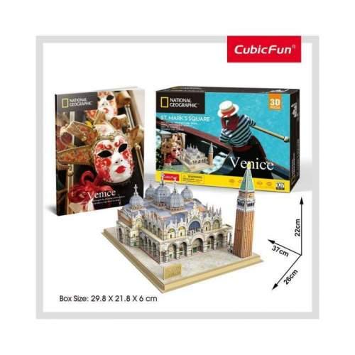 Puzzle 3D+Brosura-Piata San Marco 107 Piese