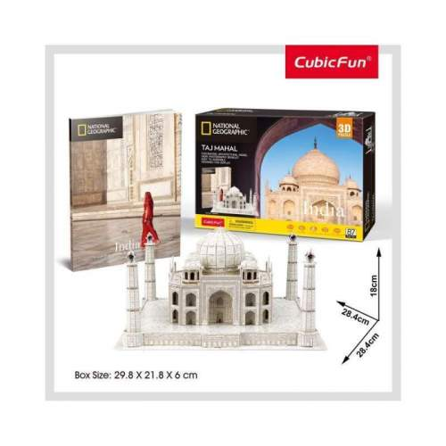 Puzzle 3D+Brosura-Taj Mahal 87 Piese