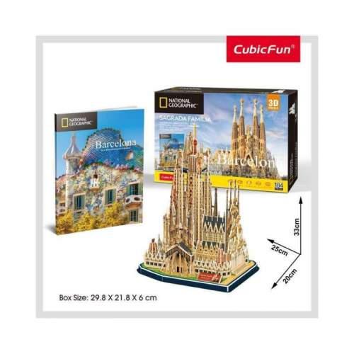 Puzzle 3D+Brosura-Sagrada Familia 184 Piese