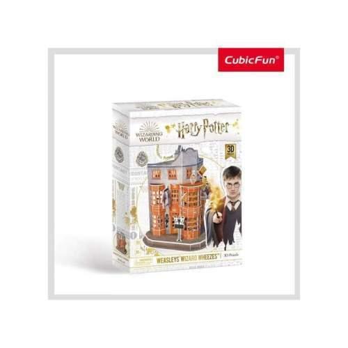 Puzzle 3D Harry Potter - Magazin Weasleys 62 Piese